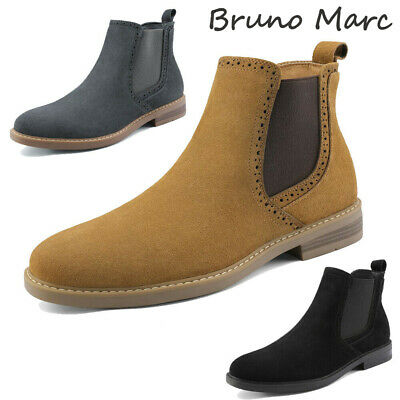 $34.19 • Buy Bruno Marc US Men's Suede Leather Casual Dress Ankle Chukka Chelsea Boots Shoes