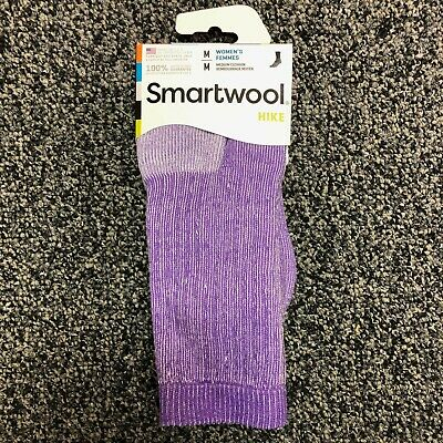 $15.95 • Buy Smartwool PhD Womens Hike Merino Wool Crew Socks - Purple Heather - Medium