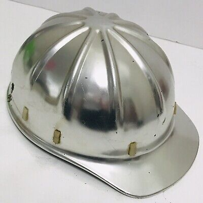 1959 Vintage Apex Safety Helmet Aluminum Construction Hard Hat Leather Band USA • 29.99$