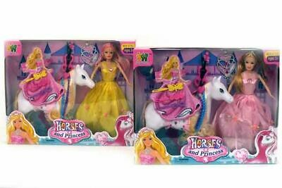 Horse And Princess Doll Set With Accessories Girls Play Toys • 10.95£
