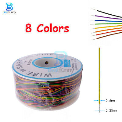 AU8.06 • Buy 8 Wire Breadboard Jumper Colored Wrapping Cable 280M 30 AWG B-30-1000 Insulation