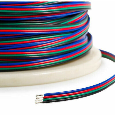 $10.99 • Buy 4-PIN RGB Extension Connector Wire Cable Cord For 3528/5050 RGB LED Strip Light