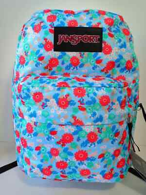 $19.99 • Buy JanSport Superbreak Backpack School Bag Book Back Pack Flowers For Women / Girls