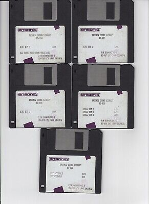 $125 • Buy ENSONIQ SL-1 To SL-5 SERIES EPS / EPS16+ / ASR 10/88 (25) DISK SET