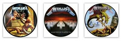 £4 • Buy X 3 Stickers Metallica Master Of Puppets & No Remorse No Life Till Power 1 Free