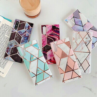 $ CDN4.96 • Buy For Samsung S20 FE Note 10 Plus A51 A71 Geometric Marble Soft IMD TPU Case Cover