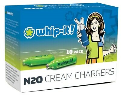 AU35.95 • Buy Whip-it! Cream Chargers: 10 Pack (10 Up To 1,500 Bulbs) Of Nitrous Oxide (N2O)