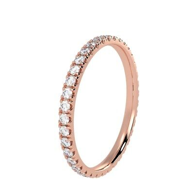 RRP £500 0.50 Ct Round Diamond Full Eternity Ring,Hallmarked Rose Gold • 275.08£