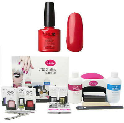 £119.95 • Buy CND Shellac Wildfire Deluxe Nail Kit Choice Of Lamp UV LED 48W/48W PRO FREE P&P