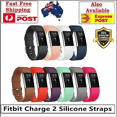 AU8.99 • Buy Fitbit Charge 2 Bands Replacement Silicone Wristband Watch Strap Bracelet Band