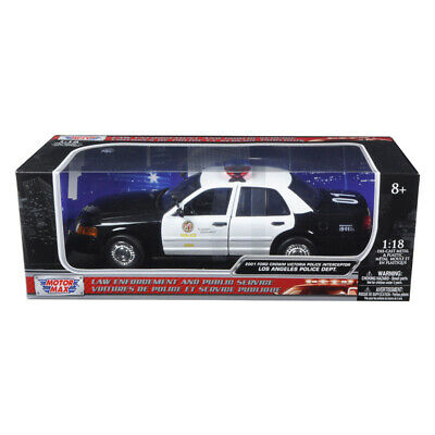 New 2001 Ford Crown Victoria Los Angeles Police Department LAPD Car 1/18 Diecast • 53.41$