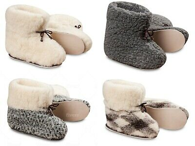 Women's Sheepskin Slippers Cozy Foot Ladies Ankle Boots Wool Hard Sole Bootees • 13.99£