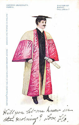 £6.75 • Buy R113643 Oxford University. Robes. Doctor Of Music. 1905