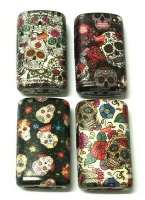 Windproof Turbo Jet Flame Gas Refillable Cigarette Cigar Lighter Aztec Skulls • 3.85£