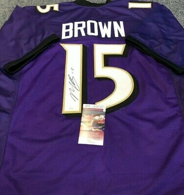 $ CDN140 • Buy Marquise Brown Baltimore Autographed Signed Jersey Jsa Coa