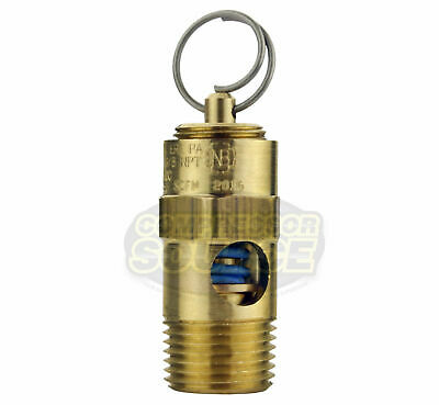 $9.49 • Buy 40 PSI 3/8  Male NPT Air Compressor Safety Relief Pop Off Valve Solid Brass New