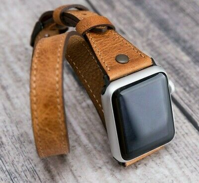 $ CDN88.70 • Buy Genuine Leather Watch Band Wrist Strap For Apple Watch IWatch Series 5 4 3 2  US