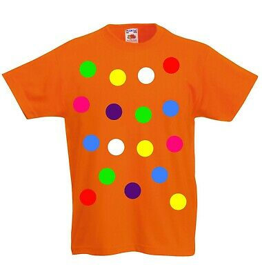 £7 • Buy Children 's Spotty Dotty T Shirt In Orange. Need A Tee With Coloured Spots?