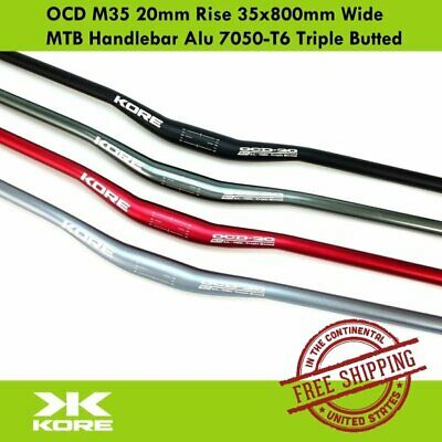 $39.90 • Buy KORE OCD M35 20mm Rise 35x800mm Wide MTB Handlebar Alu 7050-T6 Triple Butted