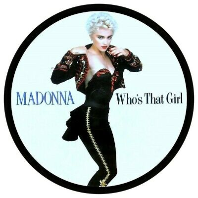 Madonna Who,s That Girl  Vinyl Sticker  100mm Round 4  Quality More Listed • 2£