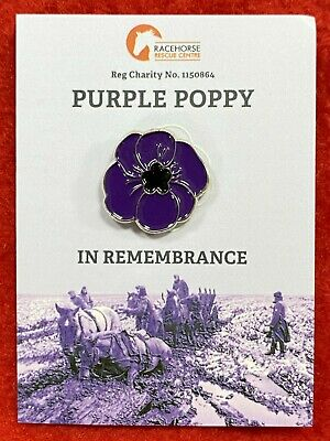 Purple Poppy Original Charity Badge 100% Goes To Official EBay Animal Charity • 5£