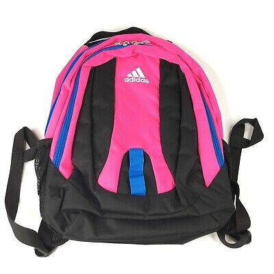 $28 • Buy Adidas Journal Large Capacity Deluxe Backpack School Bag Black Pink Laptop Nwt