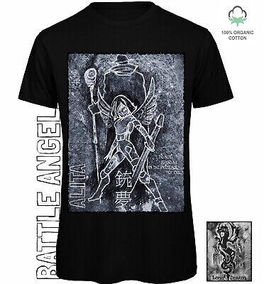 Alita Battle Angel T-shirt 100% Organic Eco Clothing Manga Graphic Comic Book  • 20£