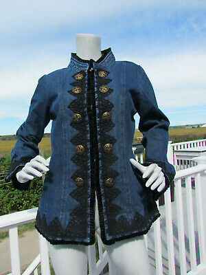£58.16 • Buy NEW M The PYRAMID COLLECTION Denim Coat Riding Jacket Victorian Steampunk Goth