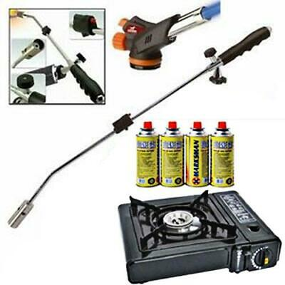 Portable Gas Stove Heater Cooker Butane Gas Bottles Canisters Weed Torch Burner • 16.95£