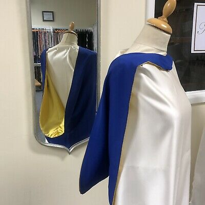 £8 • Buy Academic Gown Dress Hood In Blue And Yellow