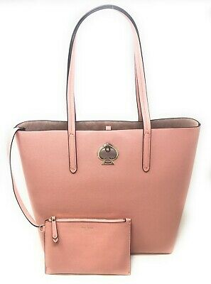 $109.61 • Buy Kate Spade Suzy Large North South Leather Tote Handbag Cosmetic Pink PXRUA398
