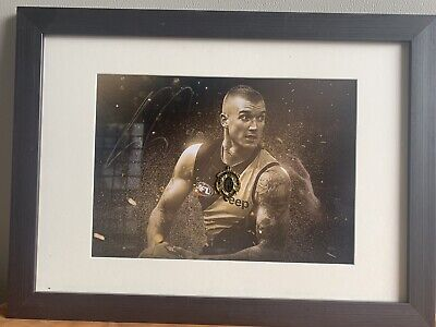 AU180 • Buy Richmond Memorabilia Dustin Martin Signed And Framed Brownlow Poster With Medal