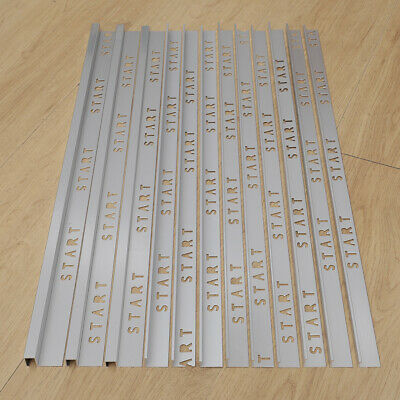 10x Steel Tile Trim For Ceramic/Wood/Wall/Floor/Marble/Corner/Carpet Tiles Decor • 55.95£