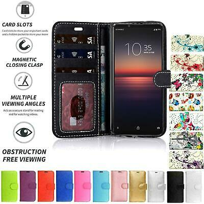 AU8.90 • Buy For Sony Xperia XZ2 , Flip Book Pouch Cover Case Wallet PU Leather Card Slot