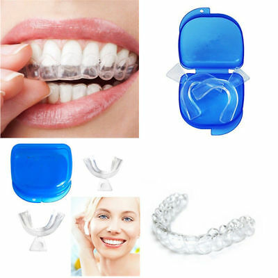 AU9.99 • Buy 2pc FDA Dental Thermoforming Teeth Whitening Tray Mouth Guards  Blue Travel Case