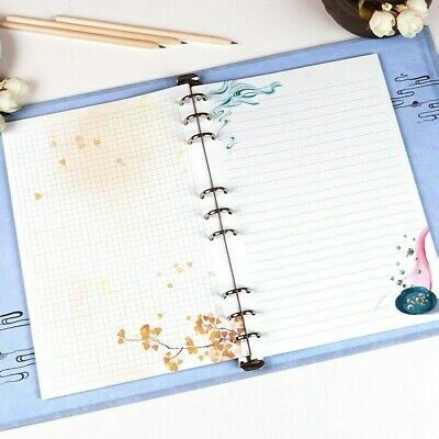 AU10.97 • Buy 30Pcs Loose Leaf Filler Paper For 9 Holes B5 Notebook Diary School Print Vintage