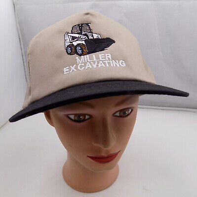$17.99 • Buy Miller Excavating Construction Bobcat Stitched Snapback Hat Pre-owned St18