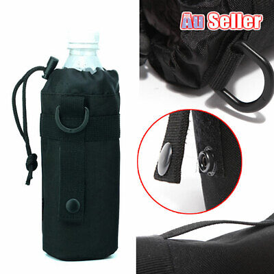 AU12.19 • Buy Outdoor Water Bottle Amry Molle Holder Pouch Tactical Bag Drink Military Kettle