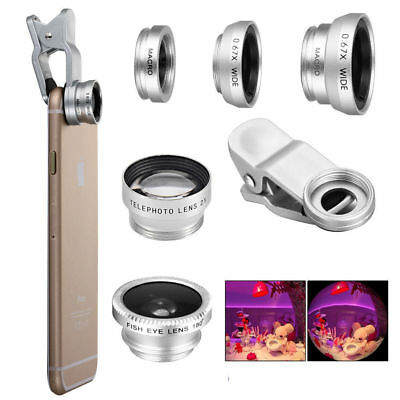 £2.99 • Buy 3 In 1 Clip On Camera Lens Fish Eye Wide Angle Macro For Tablets Android Mobiles