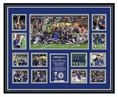 AU99.99 • Buy Chelsea Fc 2019 Uefa Europa League Signed Limited Edition Framed Memorabilia