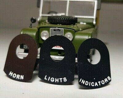 Toylander Land Rover Series 1 2 2a 3 Scale Lights Horn Indicator Switch Tag Set • 16.12£