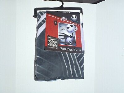 The Nightmare Before Christmas Jack And Spider Nightmare Super Plush Blanket • 22.19£