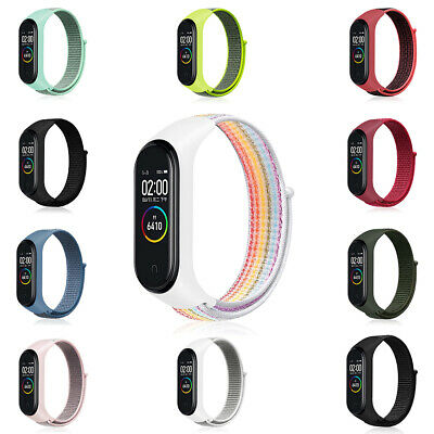 Cover Wristband Case Nylon Loop Band Strap Replaceable For Xiaomi Mi Band 3 4 • 2.56$