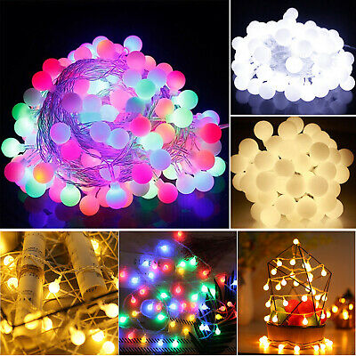 100/200LED Berry Ball Xmas Bulb Christmas Fairy String Lights Outdoor Indoor UK • 9.99£