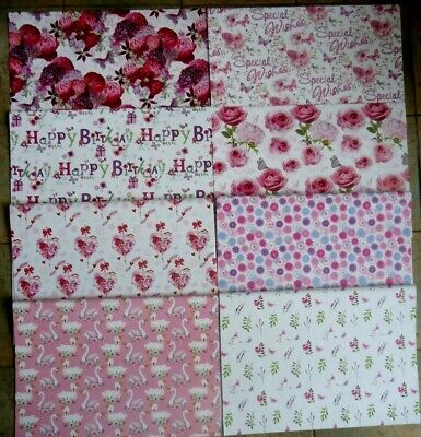 £1.89 • Buy WOMEN'S WRAPPING PAPER - 1,2 Or 3 SHEETS GIFT WRAP QUALITY GLOSSY FLOWERS FLORAL