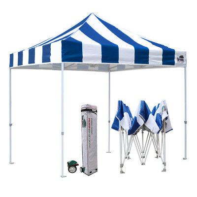 $389.95 • Buy EZ Pop Up Canopy 10x10 Commercial Canopy Instant Vendor Party Tent W/Wheeled Bag