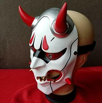 AU35.78 • Buy Overwatch Genji Skin 1:1 Resin Oni Mask Hannya Helmet Halloween  Cosplay #H5