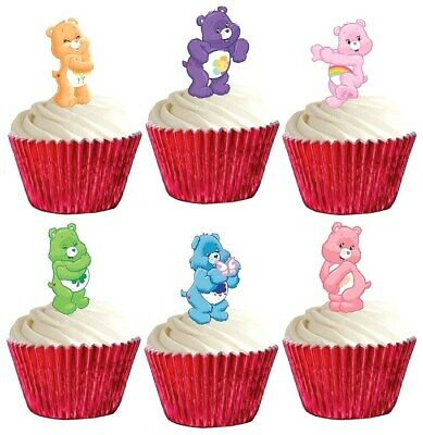 £1.99 • Buy 24 Care Bears Stand Up Cup Cake Toppers Edible Birthday Party Decorations