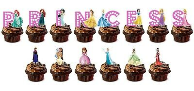 £1.99 • Buy Disney Princess Stand Up Cup Cake Toppers Edible Birthday Party Decorations