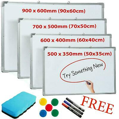 £23.99 • Buy Magnetic Whiteboard Small Large White Notice Board Dry Wipe Office School Home